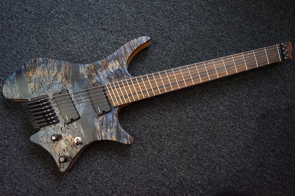 Strandberg sweden custom shop boden 7 blue electric guitar for Strandberg boden 7