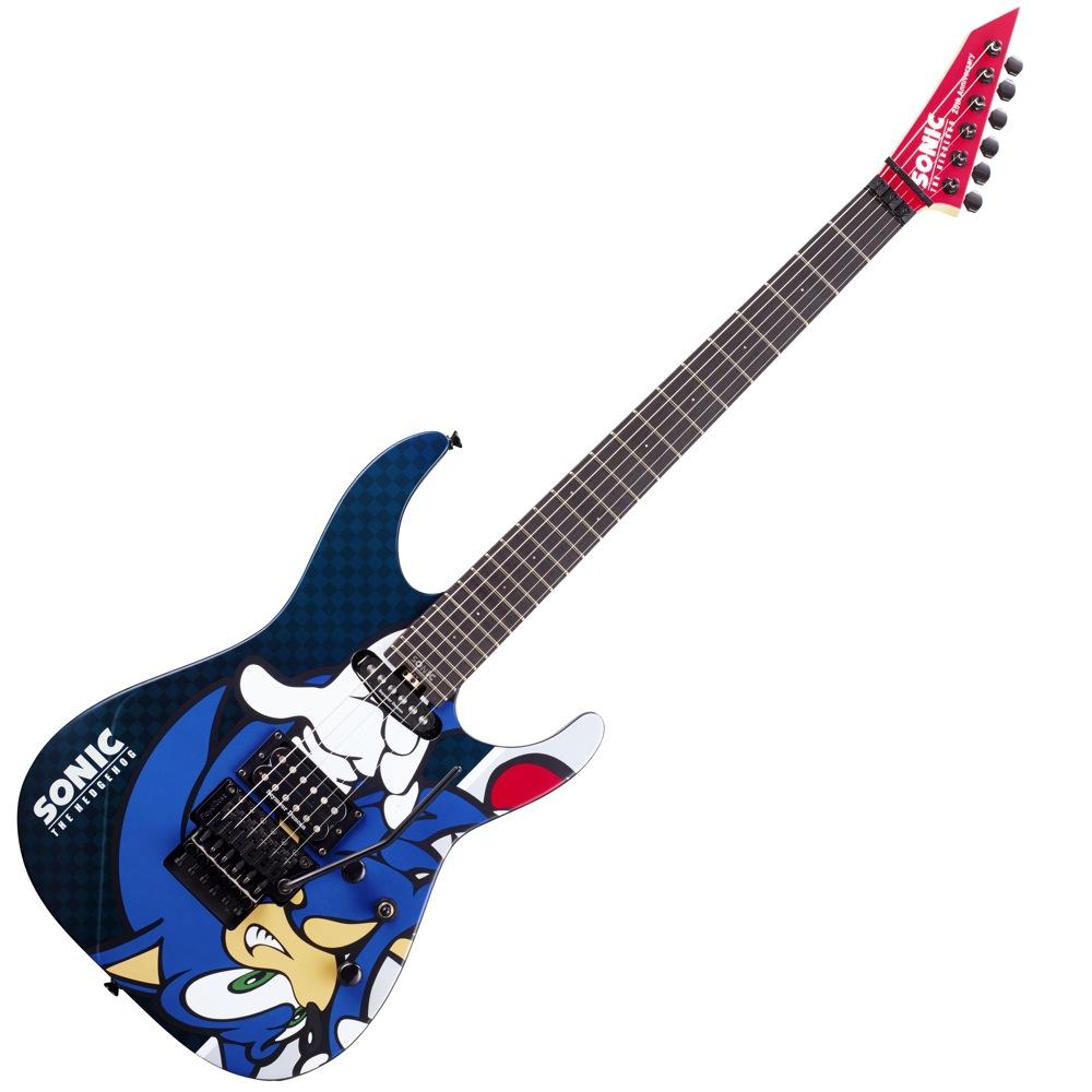 esp sn 25th sonic the hedgehog guitar ii 25th anniversary electric guitar ebay. Black Bedroom Furniture Sets. Home Design Ideas