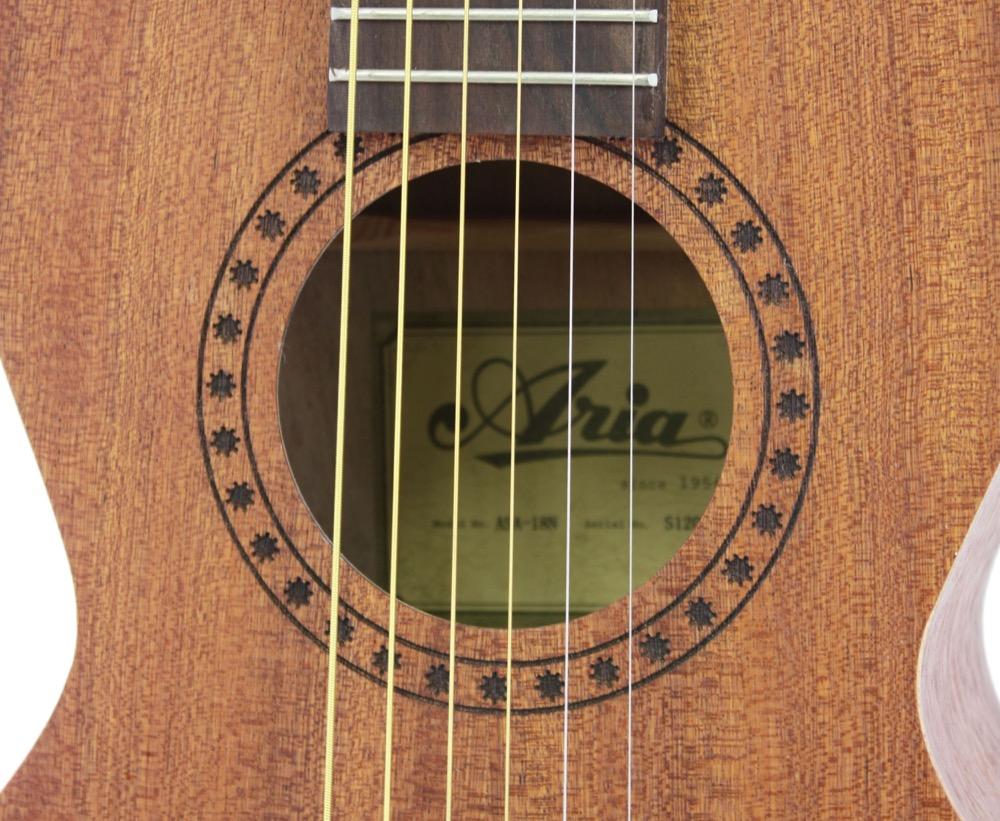 aria asa 18 parlor style small size mini acoustic guitar ebay. Black Bedroom Furniture Sets. Home Design Ideas