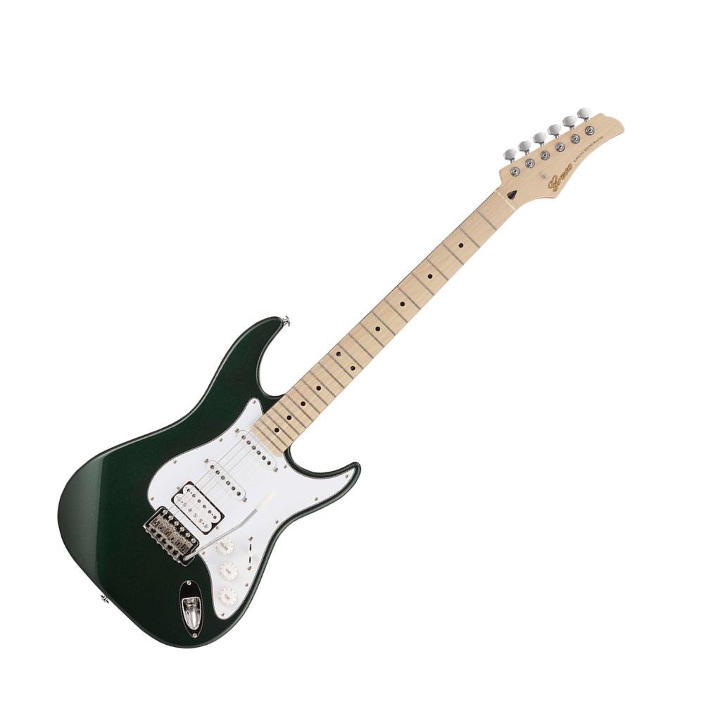 GRECO WS-STD SSH Dark Grün DKGR Maple Fingerboard Electric Guitar